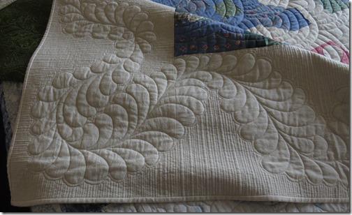 Corner of Joannes quilt