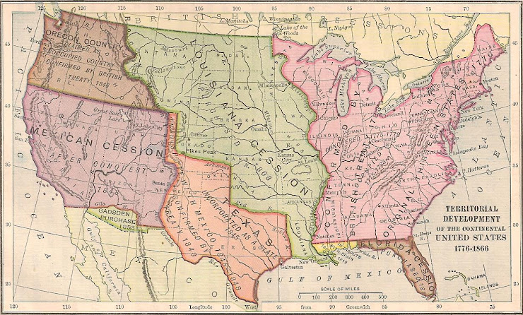 Maps of the USA from 1776-1866