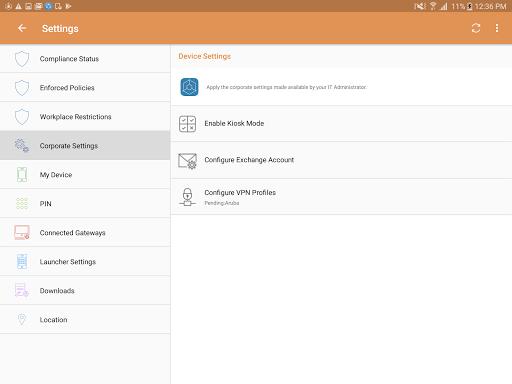 MaaS360 MDM for Android 6.05 screenshots 23