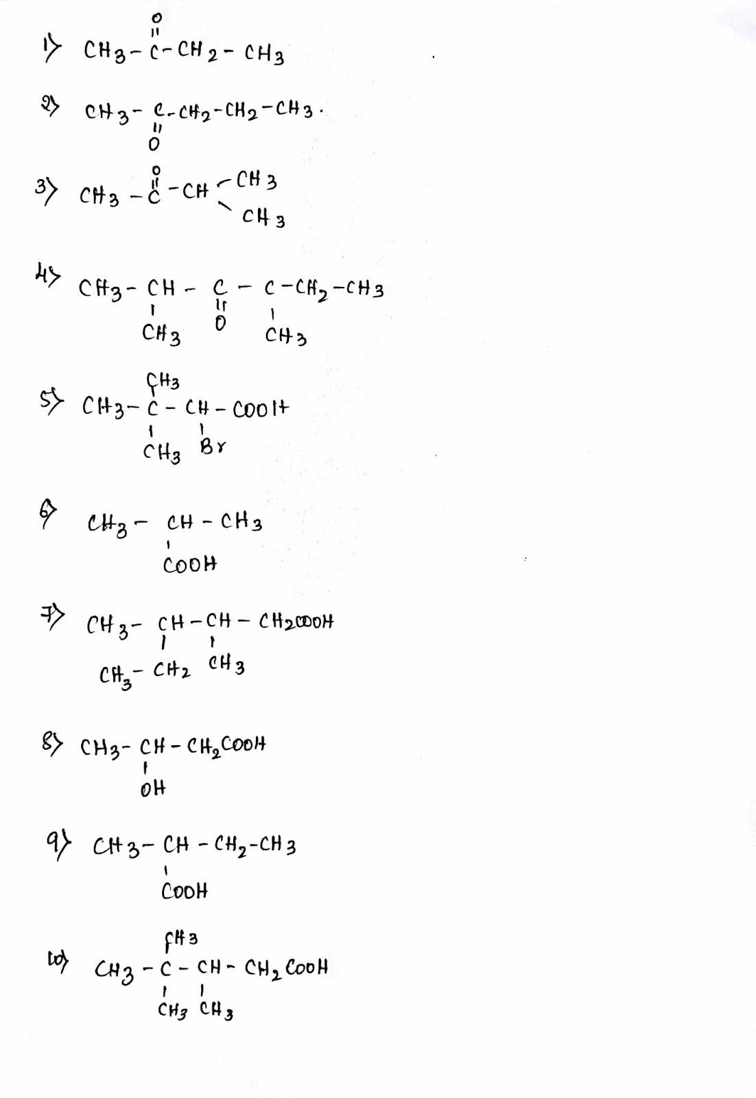 Puc Cbse Grade 11 Iupac Practice Worksheet 001