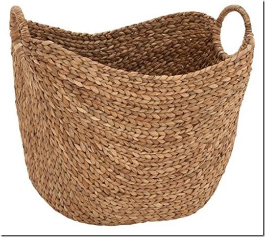 fall throw basket, basket, farmhouse, farmhouse style, cottage, cottage style
