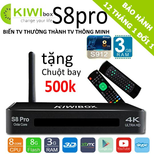 android tv box kiwi s8 pro