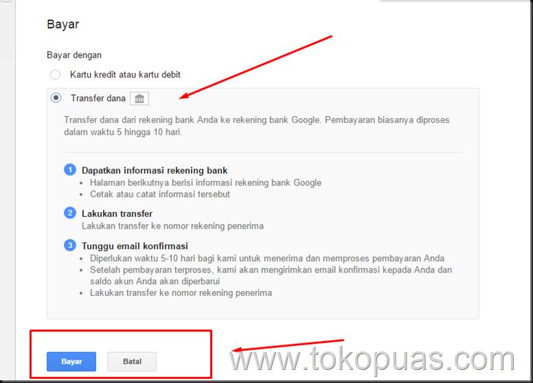 cara beriklan google dengan bank mandiri