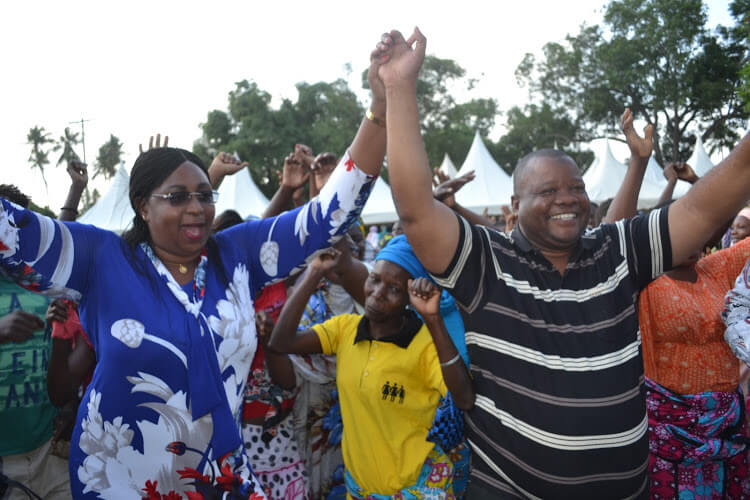 Abdulrahman Omar Mohamed(Abdhere)with Malindi MP Aisha Jumwa. PHOTO   FILE