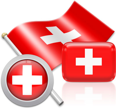 Swiss flag icons pictures collection