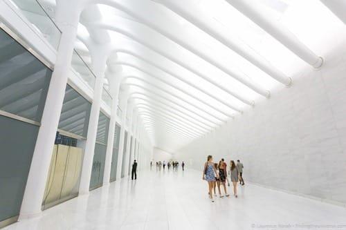 Futuristic subway world trade center