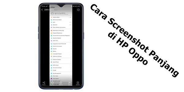 Mengambil tangkapan layar atau screenshot di Android ibarat OPPO itu gampang 5 Cara Screenshot Panjang di HP Oppo