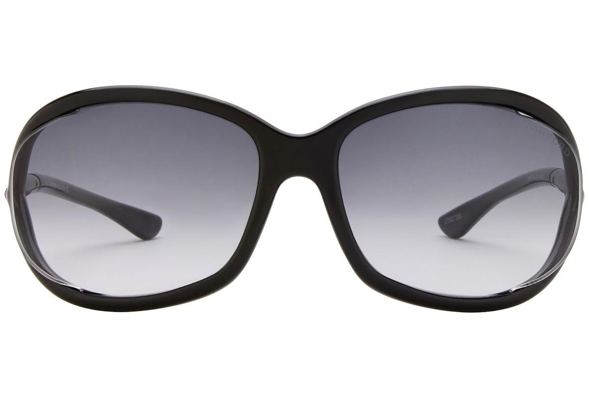 Acheter Lunettes de soleil Tom Ford Jennifer FT0008 C61 01B (shiny black    gradient smoke)   opti.fashion 897602c193fa