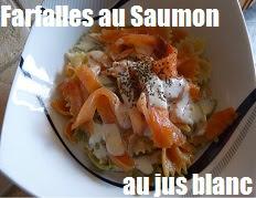 recette des farfalles au saumon et jus blanc