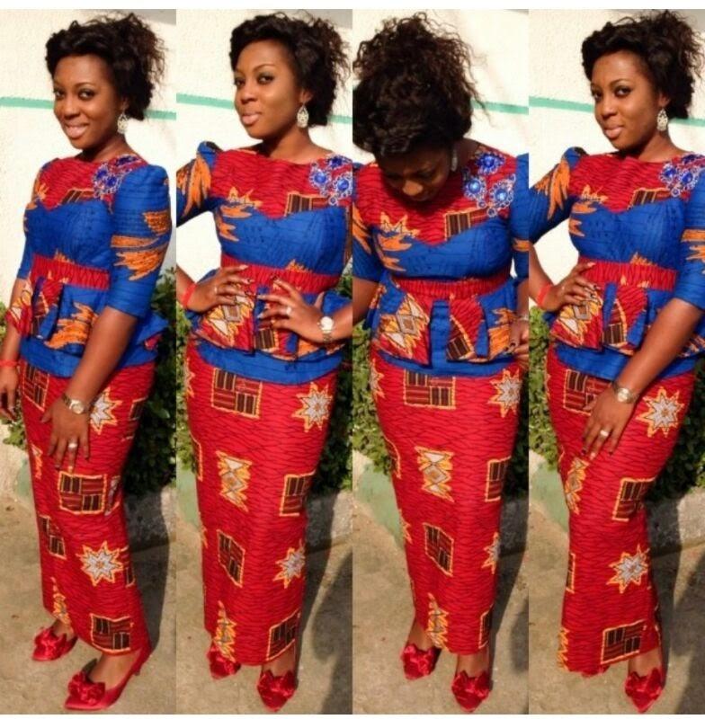 Magauni Mishono Ya Vitenge Nigeria Fashion 2d