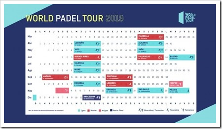 Calendario Oficial WORLD PADEL TOUR 2019