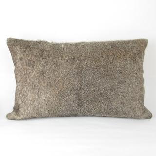 Restoration Hardware Hide Lumbar Throw Pillow