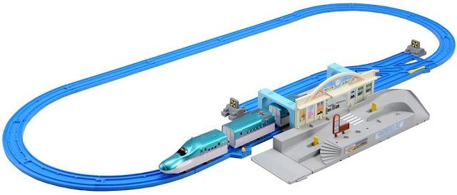 Đồ chơi Bộ Tàu hỏa Shinkansen Hayabusa và nhà ga quay xe Tomica Station Rotary