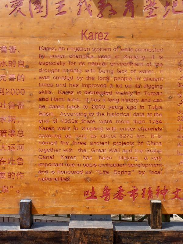 XINJIANG.  Turpan. Ancient city of Jiaohe, Flaming Mountains, Karez, Bezelik Thousand Budda caves - P1270877.JPG