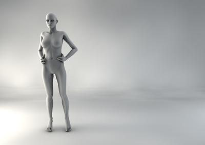 femme 3D pose naturelle SP 05