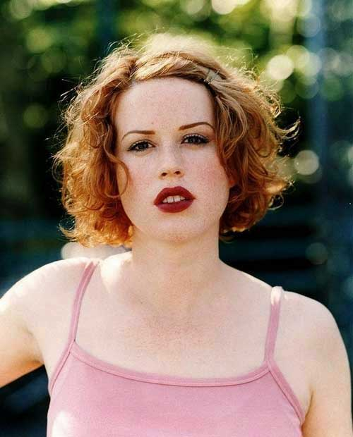 Swell Cool Short Wavy Curly Red Hairstyle Hairstyles For Women Draintrainus