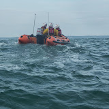 Swanage D-class lifeboat departs back to station - 28 September 2013. Photo credit: RNLI / Rob Inett