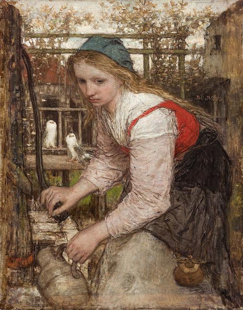 Matthijs Maris - Meisje aan de pomp, 1872