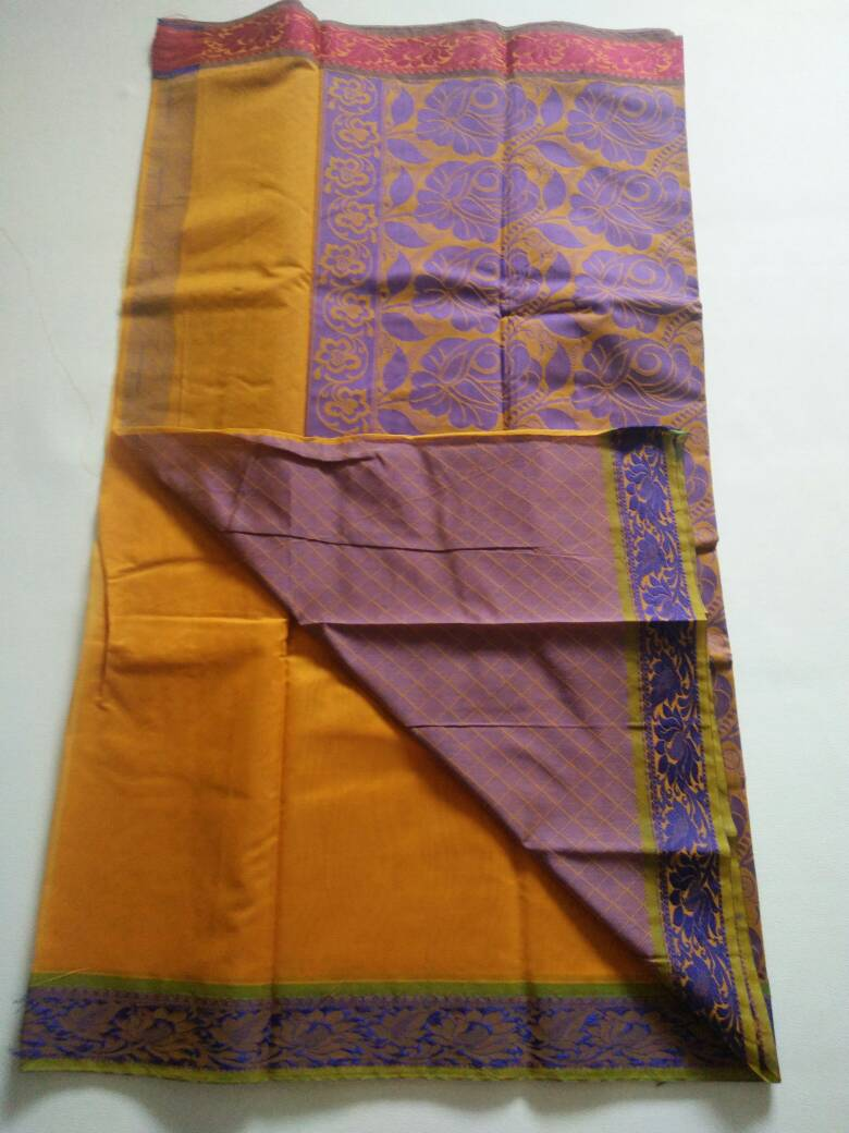 14a9a7f9bfa6e5 Silk cotton material. Plain Saree With attached contrast blouse. Normal  wash.. Use shampoo. CODE   GS