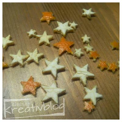 www.kleiner-kreativblog.de: Orangen-Sterne als Steudeko