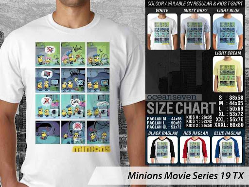 Kaos Kartun Minions Movie Series 19 distro ocean seven