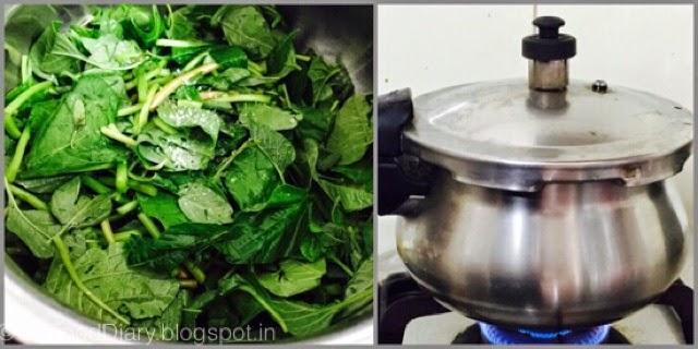 Easy Keerai Masiyal Recipe (Mulai Keerai Kadayal without dal) | SpinachPuree 5