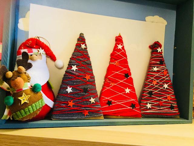 arbolitos navideños con cartón