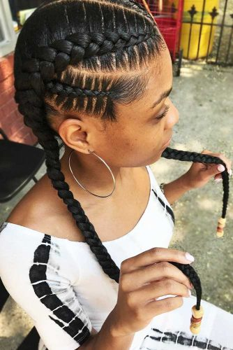 perfect straight braid hairstyle for black women 2018 2019 2