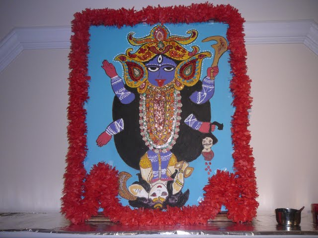 Beautiful Picture of Ma Kali made by a devotee
