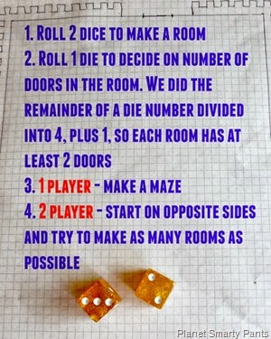 Rules for Playing Roll-a-Castle. You can also invent your own :)