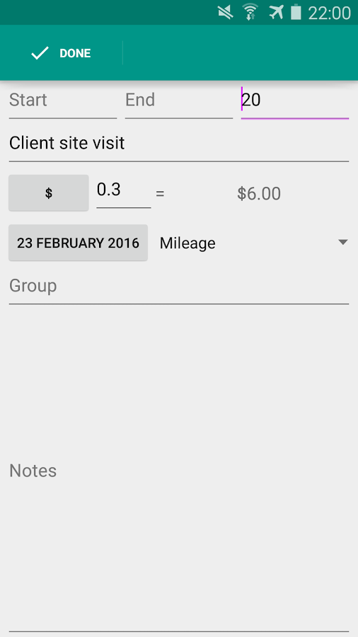 ExpenseClam expenses & mileage- screenshot