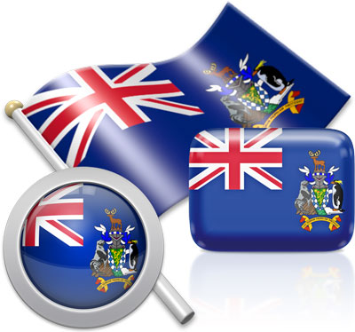 South Georgia and the South Sandwich Islands flag icons pictures collection