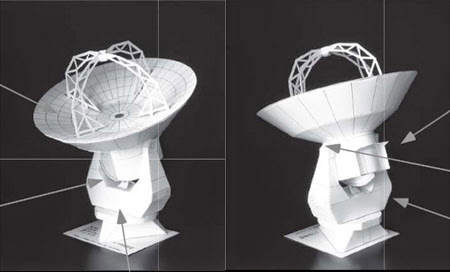 Atacama Large Millimeter Array Papercraft