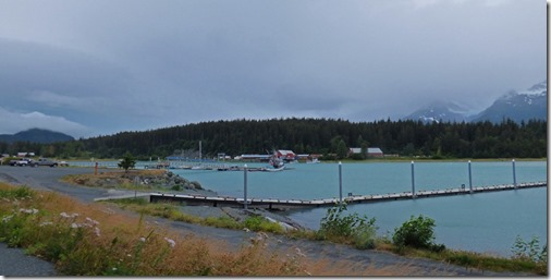Chilkat Inlet, harbor and Fish Packing plant