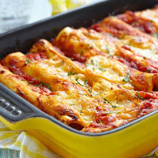 Beef Enchiladas With Ranchero Sauce.