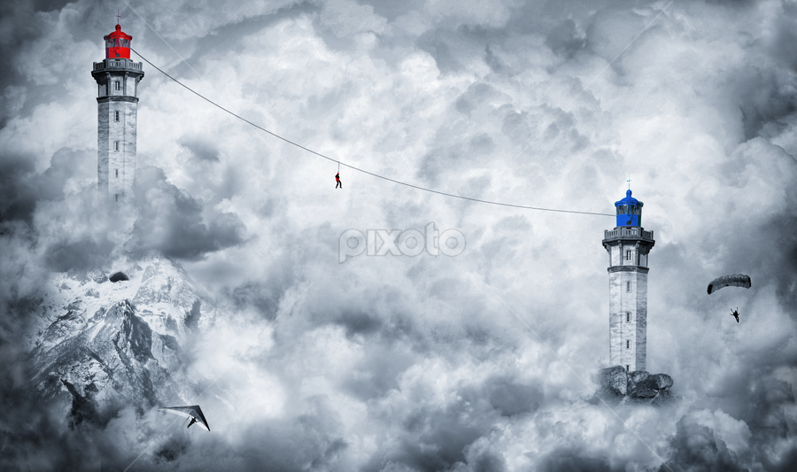 In The Clouds by Sebastien Gaborit - Digital Art Places