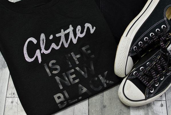 glitter is the new black tee
