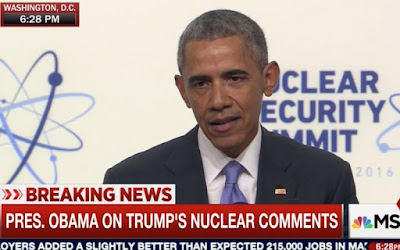 Obama's choice words about Trump at world media conference
