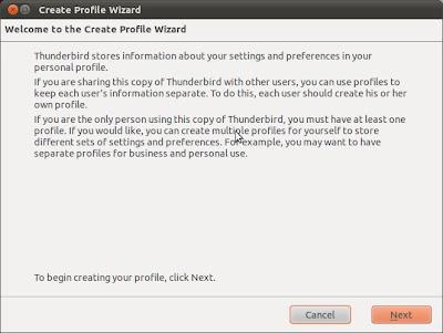 Cambiar de ubicación el perfil de Thunderbird en Linux Ubuntu 11.04