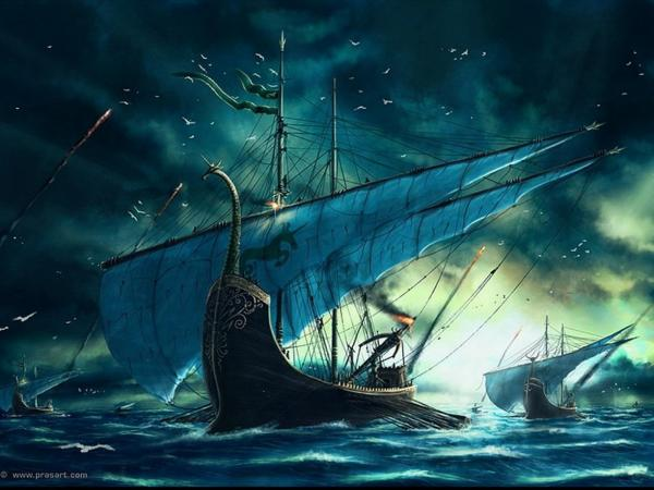 Marine Fleet, Magical Landscapes 1