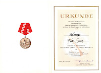 205b Medaille für treue Dienste in den Kampfgruppen für 20 Dienstjahre http://www.ddrmedailles.nl