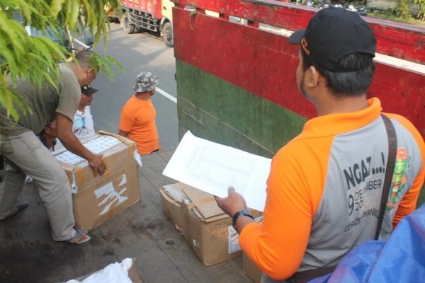 Polres Ngawi Lakukan sitem Buka tutup dalam mengawal pendistribusian surat suara