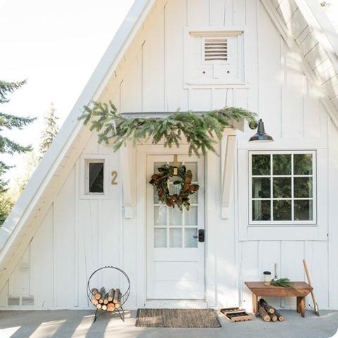 schoolhouse a frame christmas cabin
