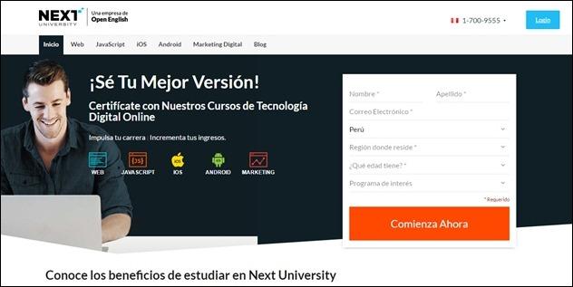 Abrir mi cuenta Next University