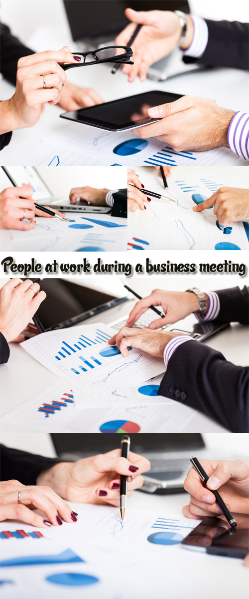 Stock Photo: People at work during a business meeting