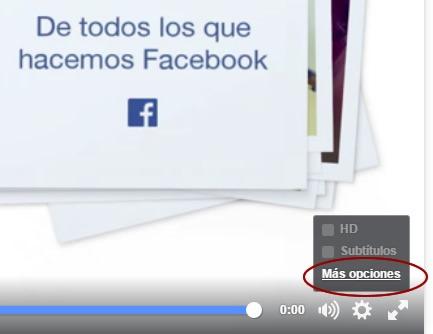 Más opciones de personalización de videos en Facebook