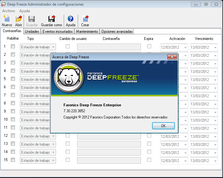 Deep freeze enterprise v7.30.220.3852
