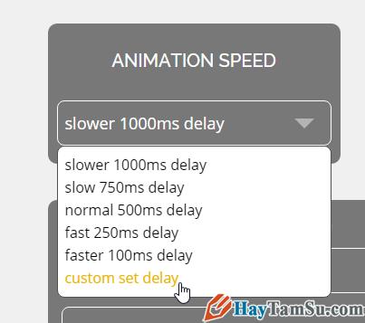 Chọn tốc độ thay đổi hình ảnh