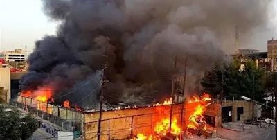 حريق كبير في مصنع بويات بالعاشر من رمضان بالشرقية