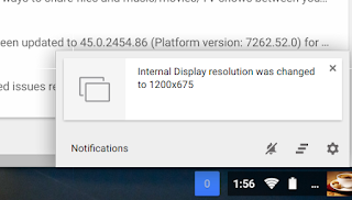 Why does the resolution of Chromebook downgrade sometimes